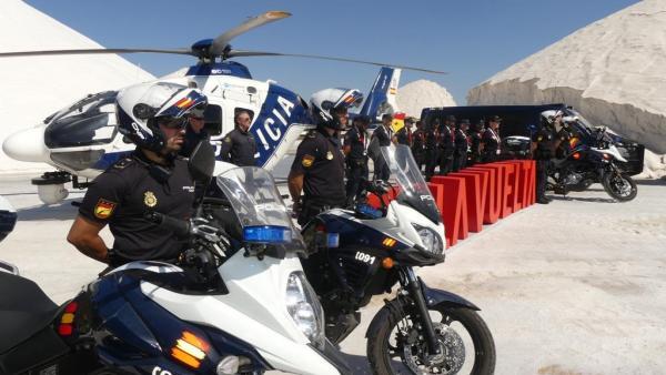 Imagen de la Policía Nacional en La Vuelta