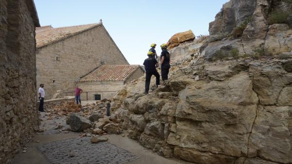 El castillo de Ares (Castellón) sufre desprendimientos a causa de las lluvias