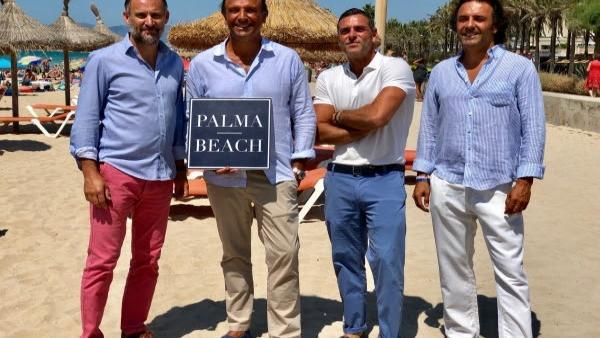 (I-D): Antoni Martorell, Director De Comunicación De Palma Beach; Juan Miguel Ferrer, CEO Palma Beach; Pedro Marin Y Mika Ferrer, Gerente Y Director De Marketing De Palma Beach Respectivamente.
