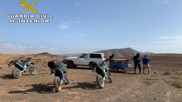 La Guardia Civil denuncia a 11 personas en una inspección de caza en Lanzarote