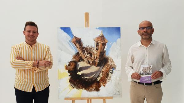 El alcalde de Santa Fe, Manuel Gil, y el concejal de Fiestas, Carlos Marcos, presentan el cartel de la feria