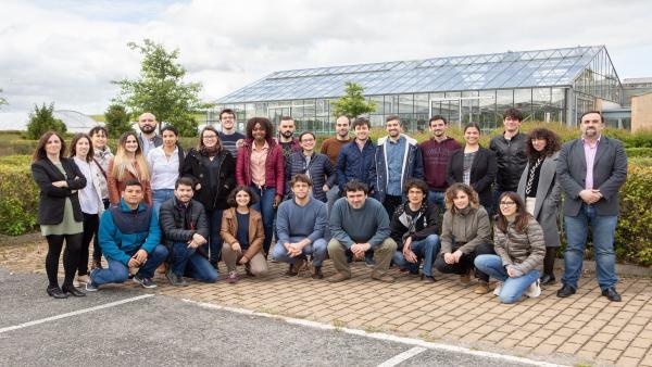 Estudiantes de doctorado de la UPNA que han recibido formación sobre emprendimiento y personal de CEIN