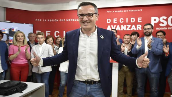Diego Conesa (PSRM) tras ganar las Elecciones Autonómicas en la Región de Murcia.