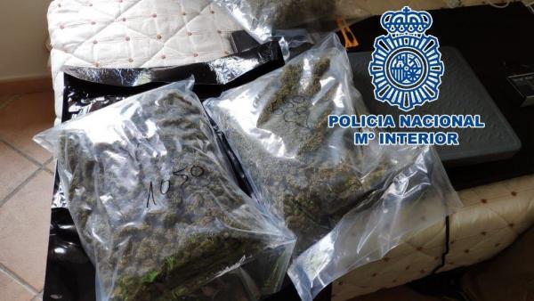 Droga intervenida en una operación policial