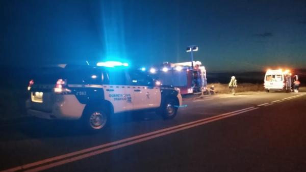 Accidente de tráfico en la NA-160 en Tudela
