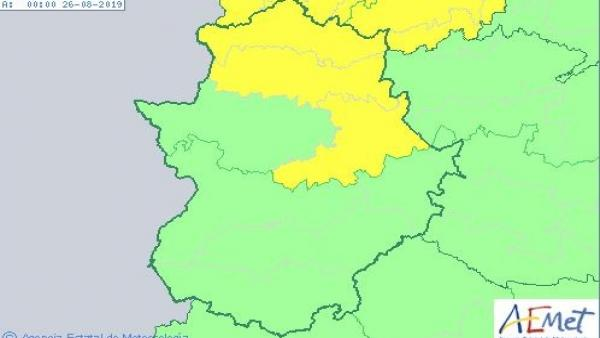 Alerta por tormentas en Cáceres