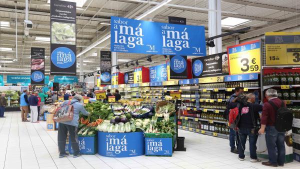 Sabor a málaga carrefour colaboración promoción agroalimentaria de productos malagueños campaña