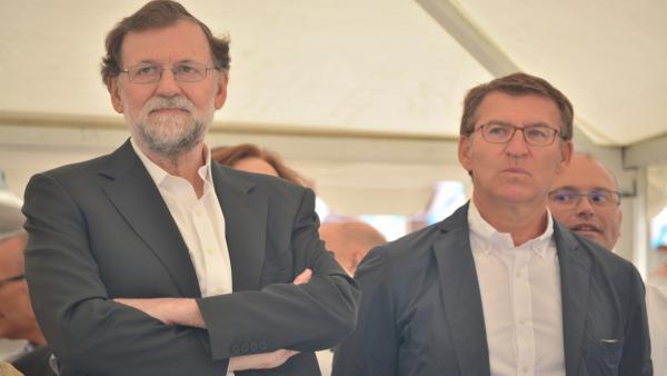Mariano Rajoy y Alberto Núñez Feijóo en Ourense