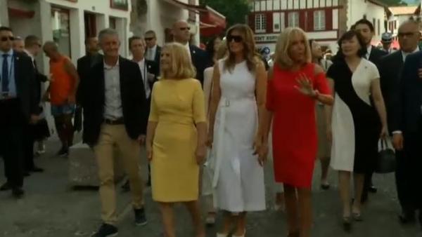 Así ha sido el G-7 de las primeras damas en el País Vasco francés