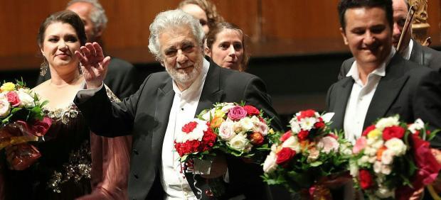 Plácido Domingo en su primera actuación tras conocerse las acusaciones de acoso sexual