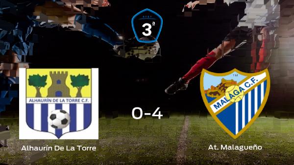 El At. Malagueño se lleva la victoria tras golear 0-4 al Alhaurín De La Torre