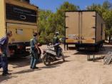 Agentes de la Guardia Civil desmantelan una fiesta ilegal en Sant Josep (Ibiza)