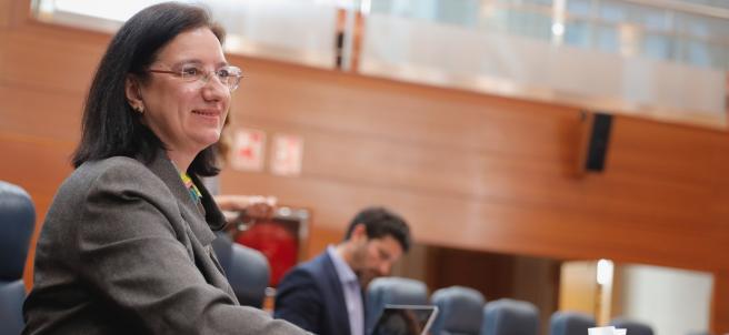 La diputada de Cs Victoria Alonso, que se convertirá en la nueva viceconsejera de Hacienda de la Comunidad de Madrid.