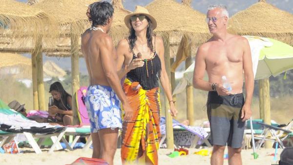 Paz Padilla, en la playa