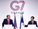 Donald Trump y Emmanuel Macron, en la cumbre del G7 en Biarritz.