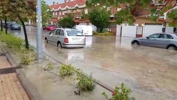 Inundación en Arganda del Rey