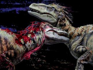 Estos dinosaurios robot dan tanto miedo como los del Jurásico