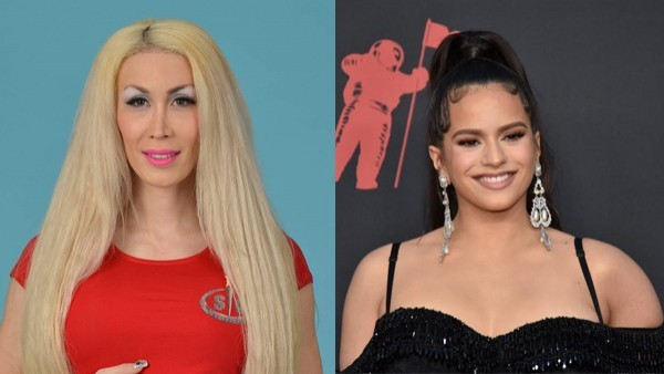 La Pelopony, exconcursante de 'Supervivientes', y la cantante Rosalía