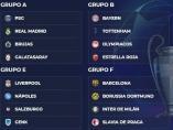 Fase de grupos de la Liga de Campeones