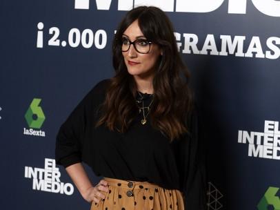 Ana Morgade durante la celebración de los 2.000 programas de 'El intermedio'