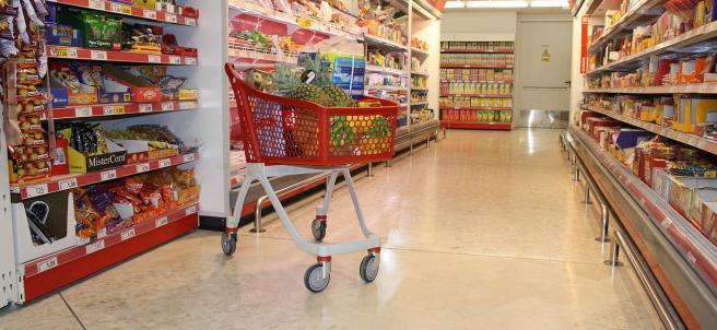 Interior de un supermercado DIA