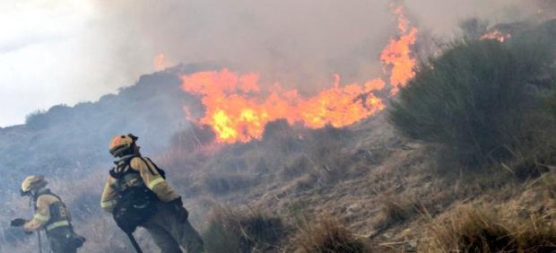 Incendio en San Juan de la Nava.