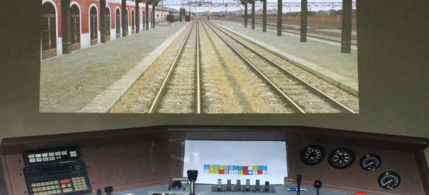 Simulador de conducción de locomotora de Asvafer.