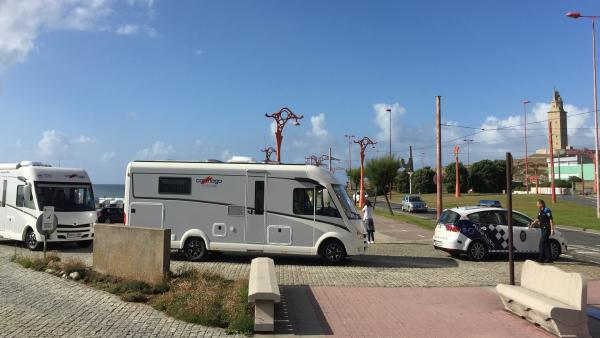 Autocaravanas estacionadas en A Coruña