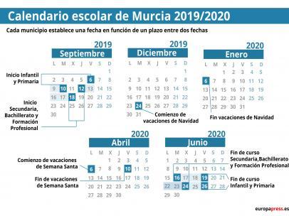 Calendario Laboral 2020 Murcia.Arranca Este Viernes El Curso Escolar 2019 2020 En 15