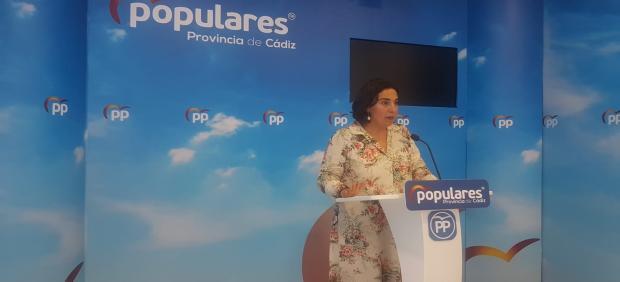 Carmen Sánchez, portavoz del PP en la provincia de Cádiz