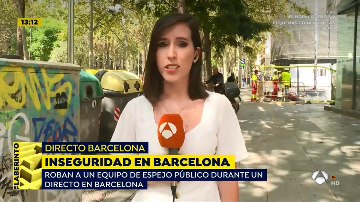 Un equipo de 'Espejo público' sufre un robo en Barcelona momentos antes de entrar en directo