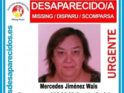 Cartel de la desaparición de Mercedes Jiménez Wals