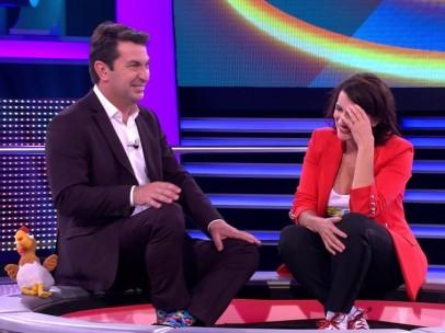 Arturo Valls y Silvia Abril
