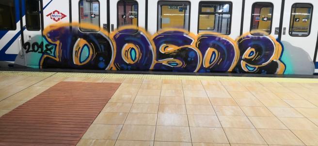 Nuevo vagón de Metro con grafitis. Foto de Recursos