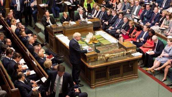 Imagen de la sesión en el Parlamento Británico.