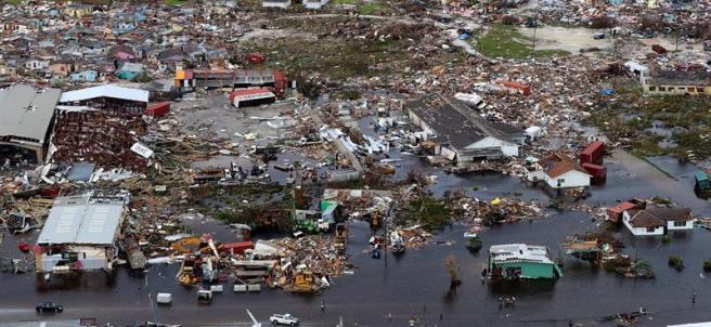 Daños causados por el huracán Dorian en Bahamas