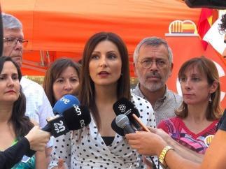 La portavoz de Cs en el Parlament, Lorena Roldán.