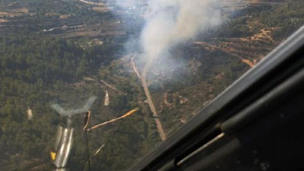 Incendio en Cervià de les Garrigues (Lleida)