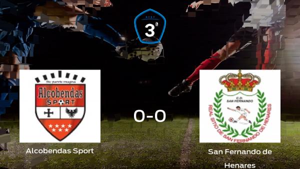 Reparto de puntos entre el Alcobendas Sport y el San Fernando de Henares: 0-0