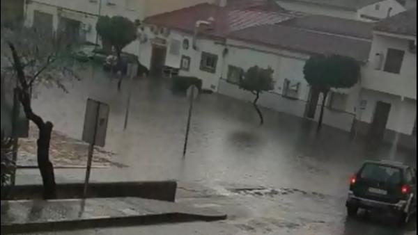 Lluvias en Nerva (Huelva)