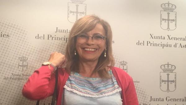 La diputada de IU en la Junta General, Ángela Vallina