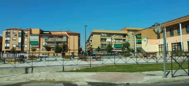 Plaza Juan Vergara del barrio de la Alhóndiga de Getafe