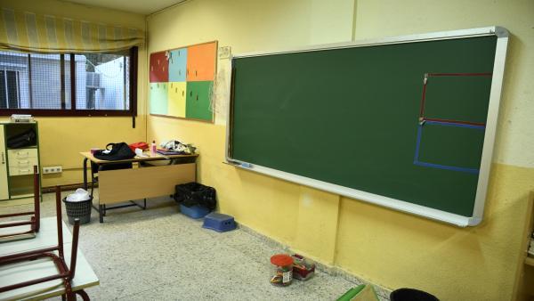 Aula de Infantil de un colegio de Madrid.