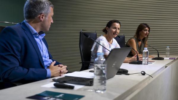 La consejera de Cultura del Gobierno de Canarias, Concepción Rivero, en la presentación del 'Festival Telón'