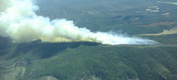 Incendio en Monteagudo de las Salinas