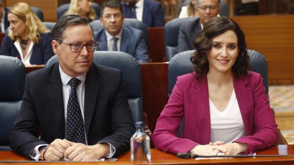 Isabel Díaz Ayuso y Alfonso Serrano