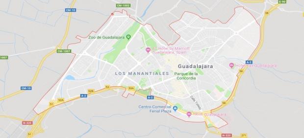 Imagen de Guadalajara en Google Maps