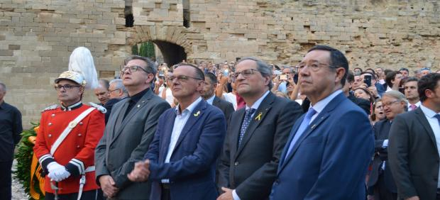 Joan Talarn, Miquel Pueyo, Quim Torra y Ramon Farré