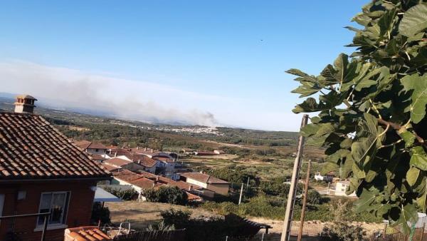 Incendio en Villanueva de la Vera