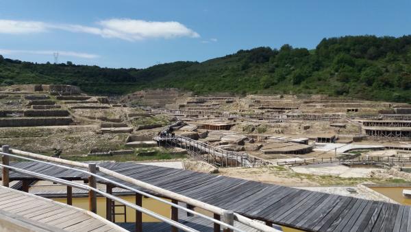 Vista de las Salinas de Añana (Álava) (archivo)
